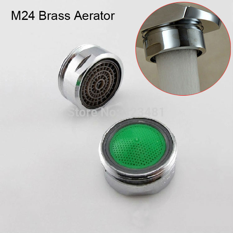 Factory M28 M24 M22 Brass water Faucet Aerator for mixer Chrome Plated male 24mm female 22mm Filter head to tap accessories(China (Mainland))