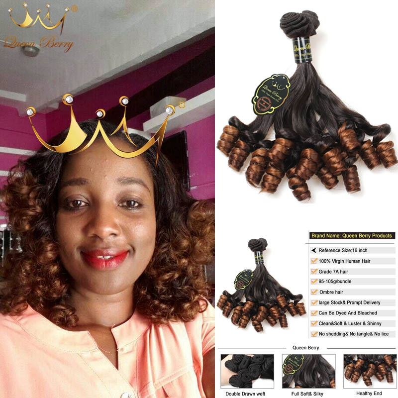 10A Brazilian Virgin Hair 4PCS Brazilian Rose Curl Virgin Hair Unprocessed Human Hair Weave Soft Brazilian Hair Weave Bundles
