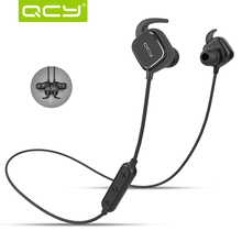 100% Original QCY QY12 Wireless Sport Headphones Bluetooth 4.1 Stereo Earphone Smart Magnet Function Headset With Microphone(China (Mainland))
