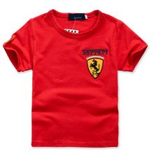 2015 summer New children t shirts boy girl leisure short sleeve car flag kids t-shirt Free shipping
