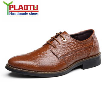 2016 Genuine Leather Men Oxford Shoes, Lace-Up Business Men Shoes, Brand Men Oxford, High Quality Men Dress Shoes
