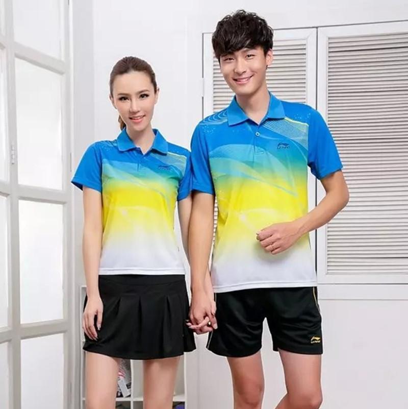 2015 New LI-Ning Badminton Sports Leisure Badminton Jersey Men and Women Shirt Li Ning Suit Shirt+shorts Lining Clothing Set 268(China (Mainland))