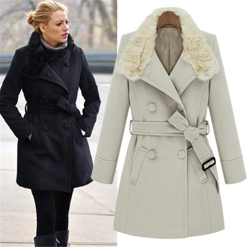 Gossip Girl Blake Lively Style Super Quality Women Coats Winter Fashion 2014 Long Wool Cardigans