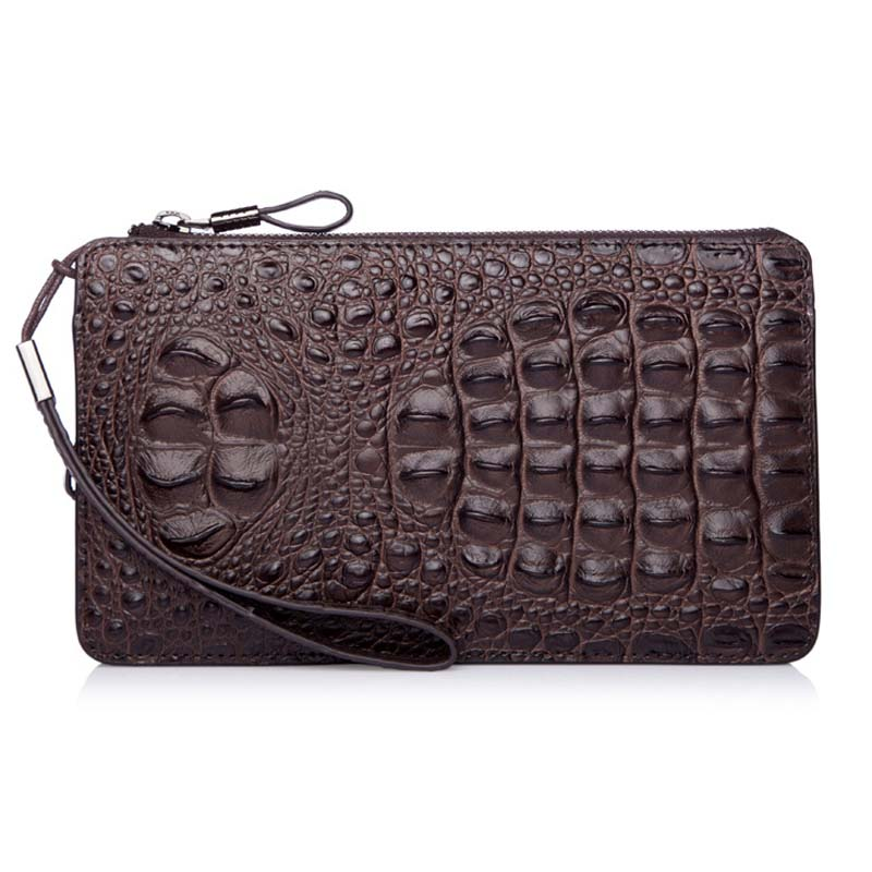 2015 men's business casual commercial clutch bag male alligator grain large day clutch wallet man bags, long design purse(China (Mainland))