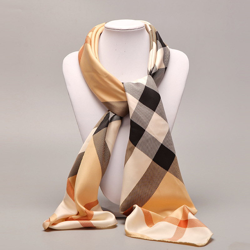 100 100cm Woman Satin Square Scarves Polyester Scarf Professional Silk Scarf Print For Lady