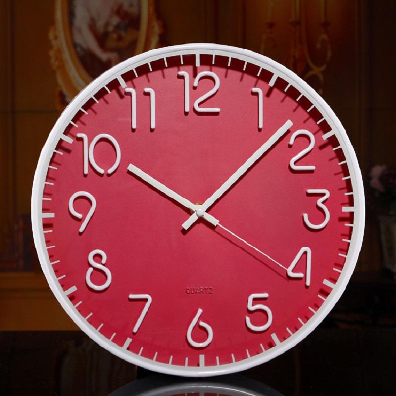 Modern wall clock home decor saat relojes pared decoracion watch large digita relogio parede wall clocks kitchen plastic round(China (Mainland))