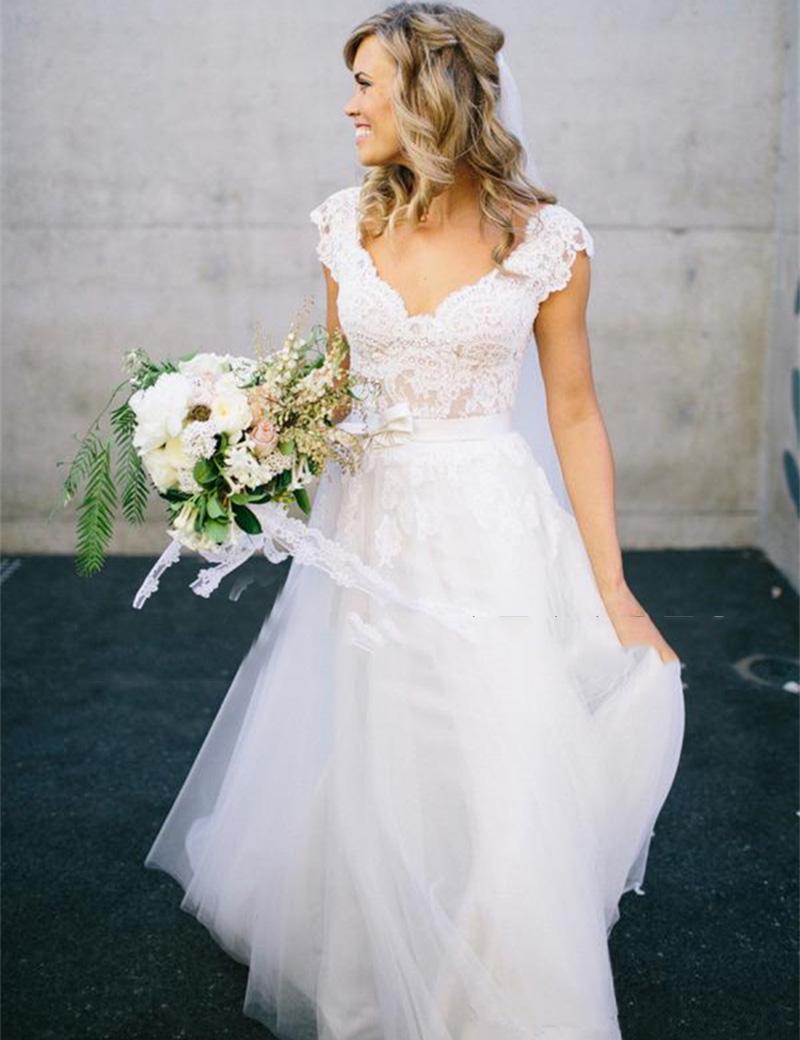 Popular boho wedding dresses buy cheap boho wedding for Country style wedding dresses plus size