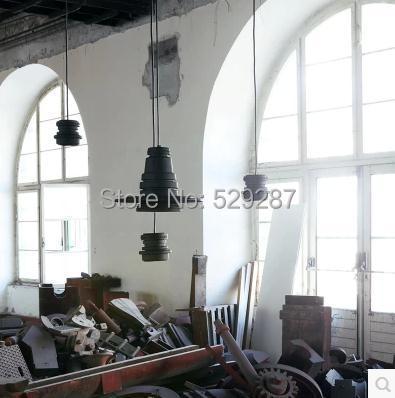 Free shipping Retro Loft Foscarini Diesel Tool Vintage shot Pendant LAMP industry big black circle lenses Chandelier(China (Mainland))