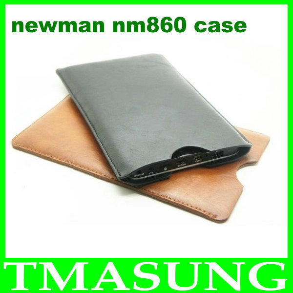 2014 Free shipping pu leather Case bag For newman nm860 phone android phone ,black brown color in stock(China (Mainland))