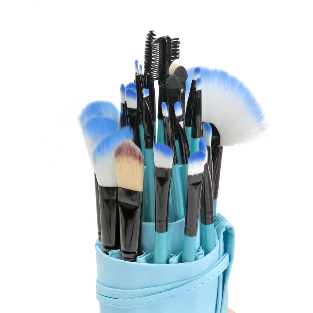 VANDER 32Pcs Makeup Brushes Set Kit Cosmetic Brush Eyebrow Foundation Shadows Eyeliner Lip Make Up Tools with Pouch Bag (11)