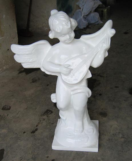 Small resin angel sculpture handicraft ornaments European style decoration angel angel with musical instruments(China (Mainland))