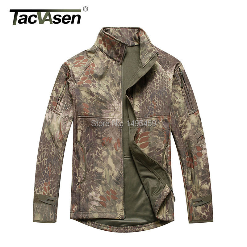Men Tactical Snake Camouflage Army Jacket Military Shark Waterproof Soft Shell Outdoor Hike Hunting Jackets Fleece TD-JLHS-008(China (Mainland))