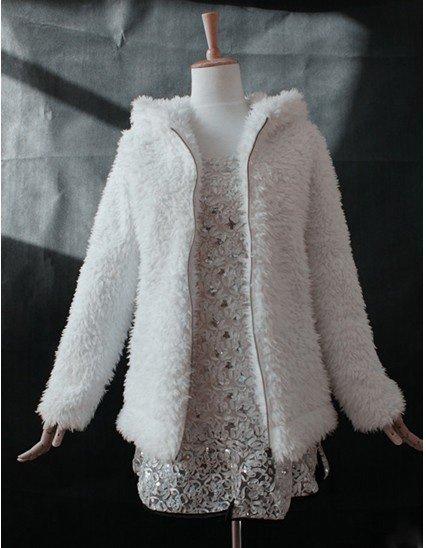 White Coats Coat Women White Fake Fur