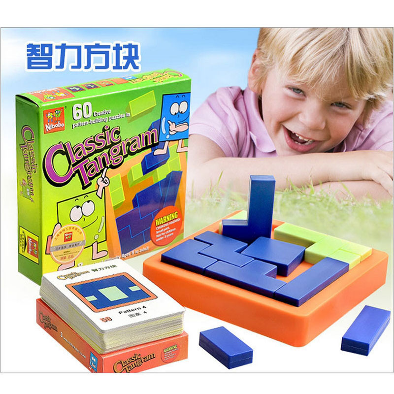 2016 New classic tangram Puzzle Jigsaw intelligence Tetris child Early Learning educational toy creative gift Table Games(China (Mainland))