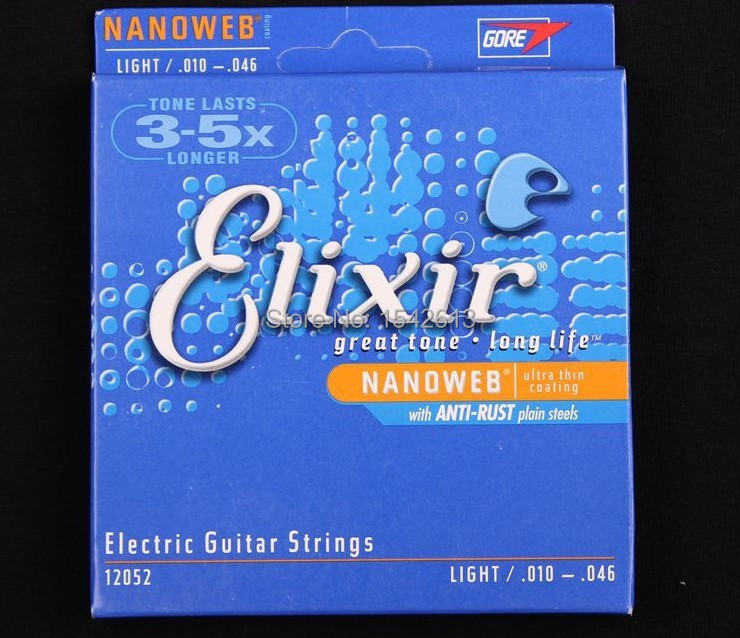 10 sets Elixir 12052 guitar strings electric guitar strings 010 musical instrument guitar parts Accessories guitarra electric(China (Mainland))