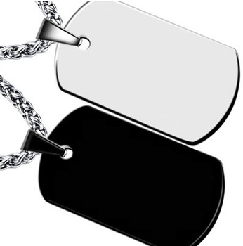 Wholesale 30pcs 316L Stainless Steel Dog Tags Pendant Necklace, Men's Steel Jewelry,Free Ship Silver/Black Soldier Army Dog Tag