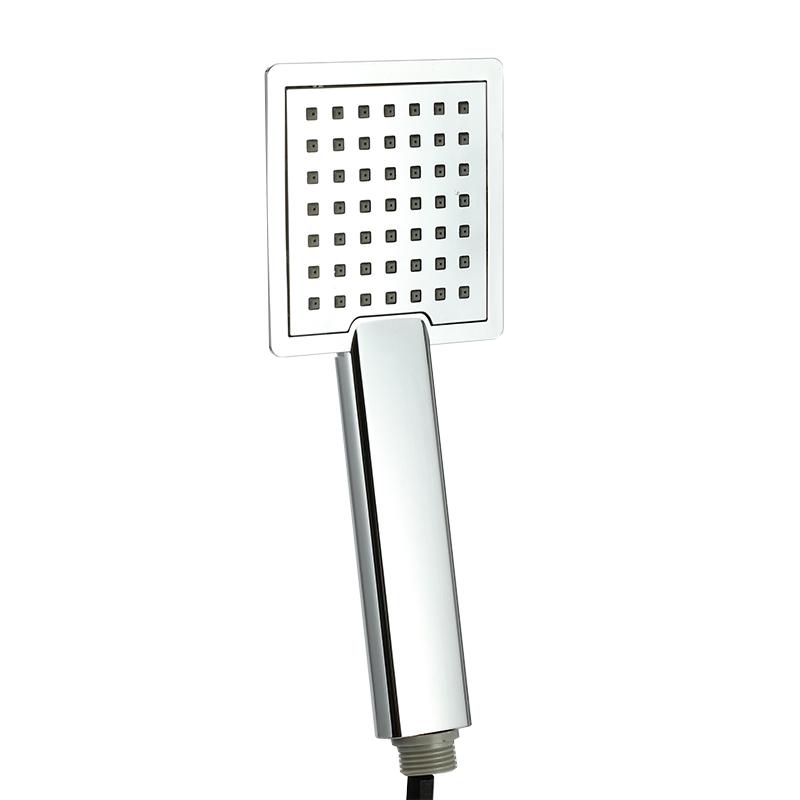 Rain shower ABS Chrome Pressure Single square shower Head handheld saving water sprayers Bathroom Faucet accessories douchekop(China (Mainland))
