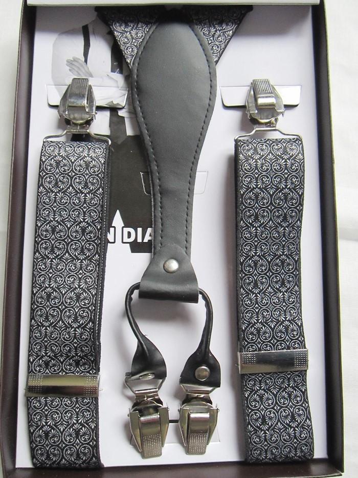Подтяжки человек лямки с подарочная коробка регулируемый четыре клип - на bretelles ligas