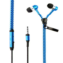 In-Ear ZipBud Stereo Earbud Zipper Earphone with Mic
