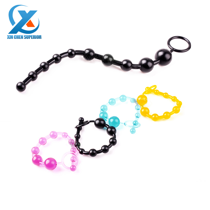 New Arrival Black Epic Sale Orgasm Vagina Plug Play Pull Ring Ball Sexy Sex Novelties Jelly Anal Special Toy Beads Chain(China (Mainland))