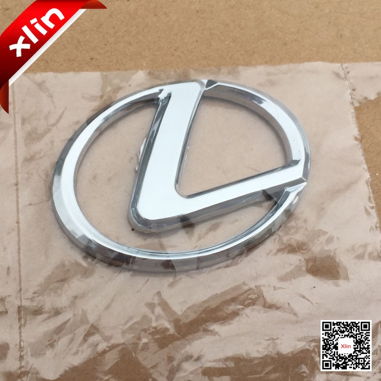 10pcs 6.5x4.9cm 3D Chrome ABS Silver Lexus logo Steer Wheel Badge car Emblem sticker Auto Accessories(China (Mainland))