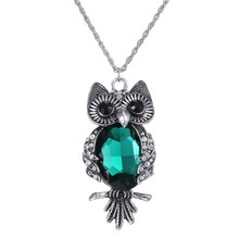 Buy Necklaces Trendy Long Chain Statement Necklace Pendants Women High Owl pendant Necklace Fashion Green Crystal for $2.85 in AliExpress store