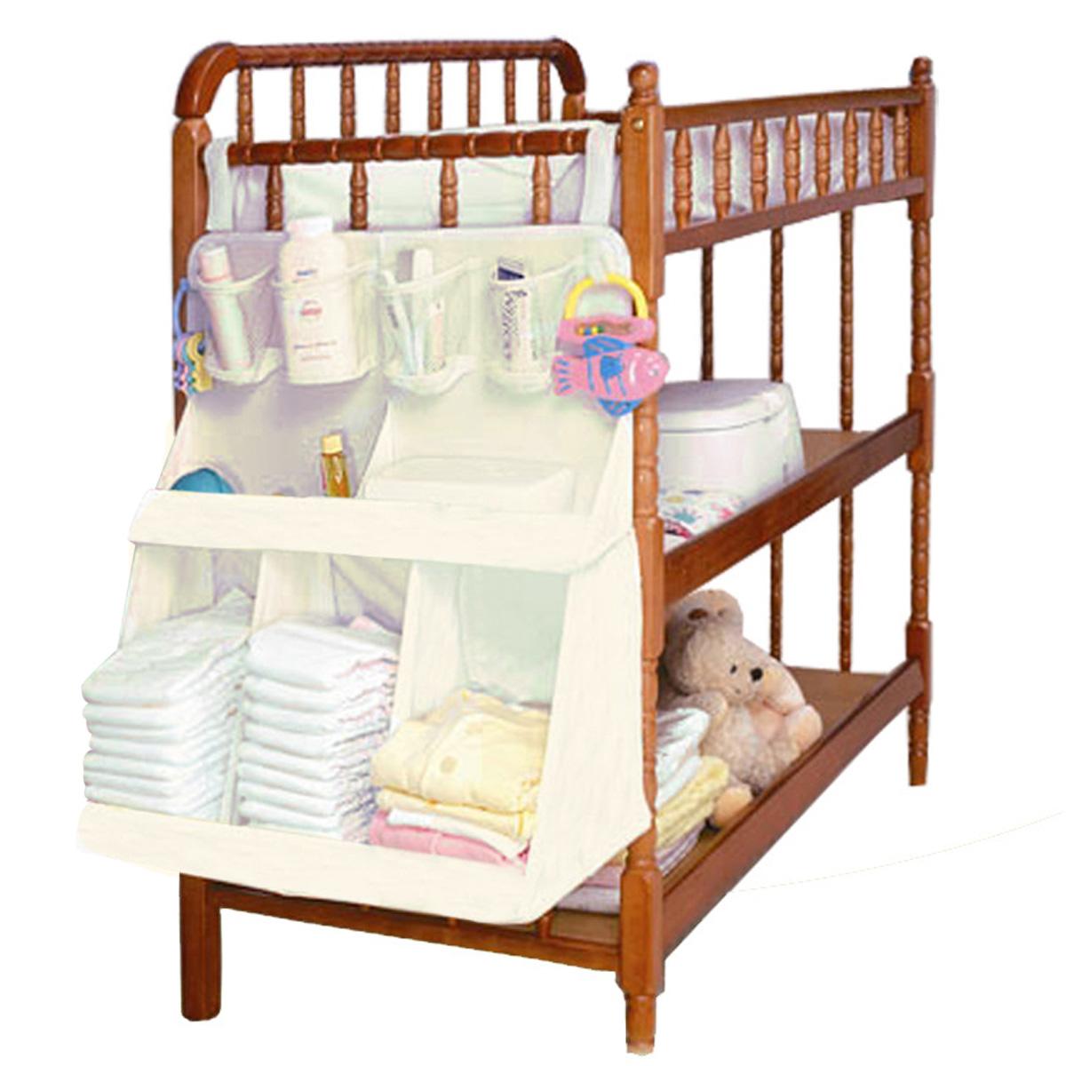 Baby Bedding Set Accessories Waterproof Diapers Organizer Baby Crib Bed Hanging Bag Portable Storage Bag(China (Mainland))