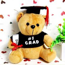 Buy 1pcs 20cm plush doctor Dr. Bear learn read Bear Hat plush toy doll Graduation Gift Plush Doctorial hat Bear for $4.24 in AliExpress store