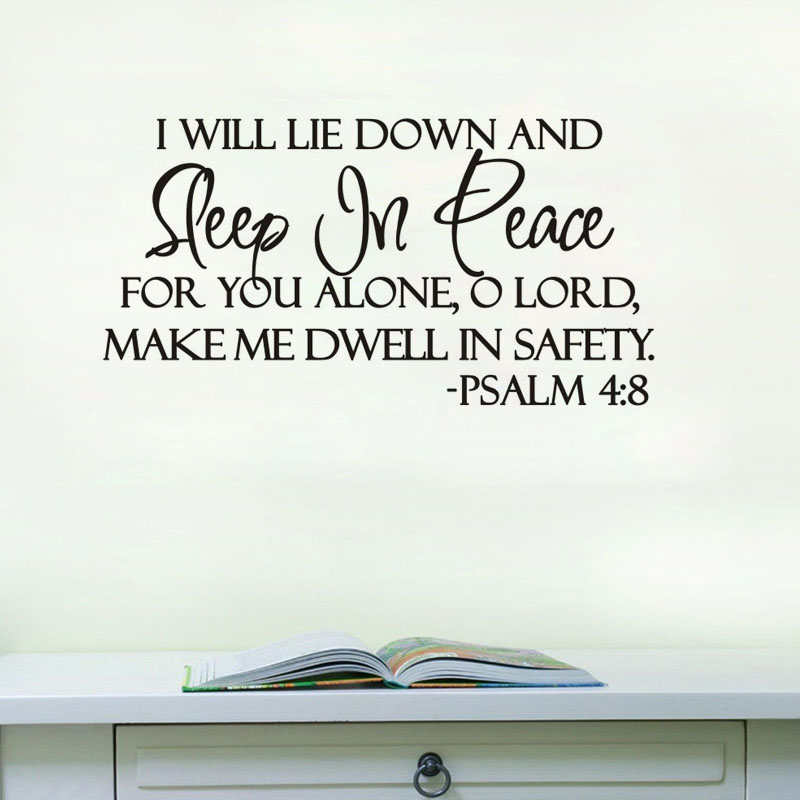 Free shipping sleep in peace bible verse home decoration for Decorated bible