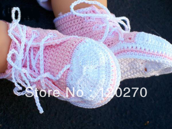 Knitting Pattern For Baby Tennis Shoes : Free shipping Wholesale Crochet Baby Boys Sport Shoes Sneakers Newborn Infant...