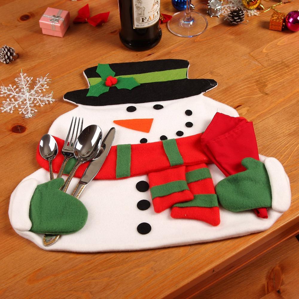 Christmas mantel decorations - Merry Christmas Snowman Manteles Mantel Estera Almohadillas Cena Mesa