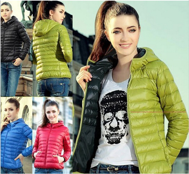 2016 Candy Colored Hooded Down Cotton Small Padded Jacket Short CoatWinter Coat Sale Designer Womens Winter Coats(China (Mainland))