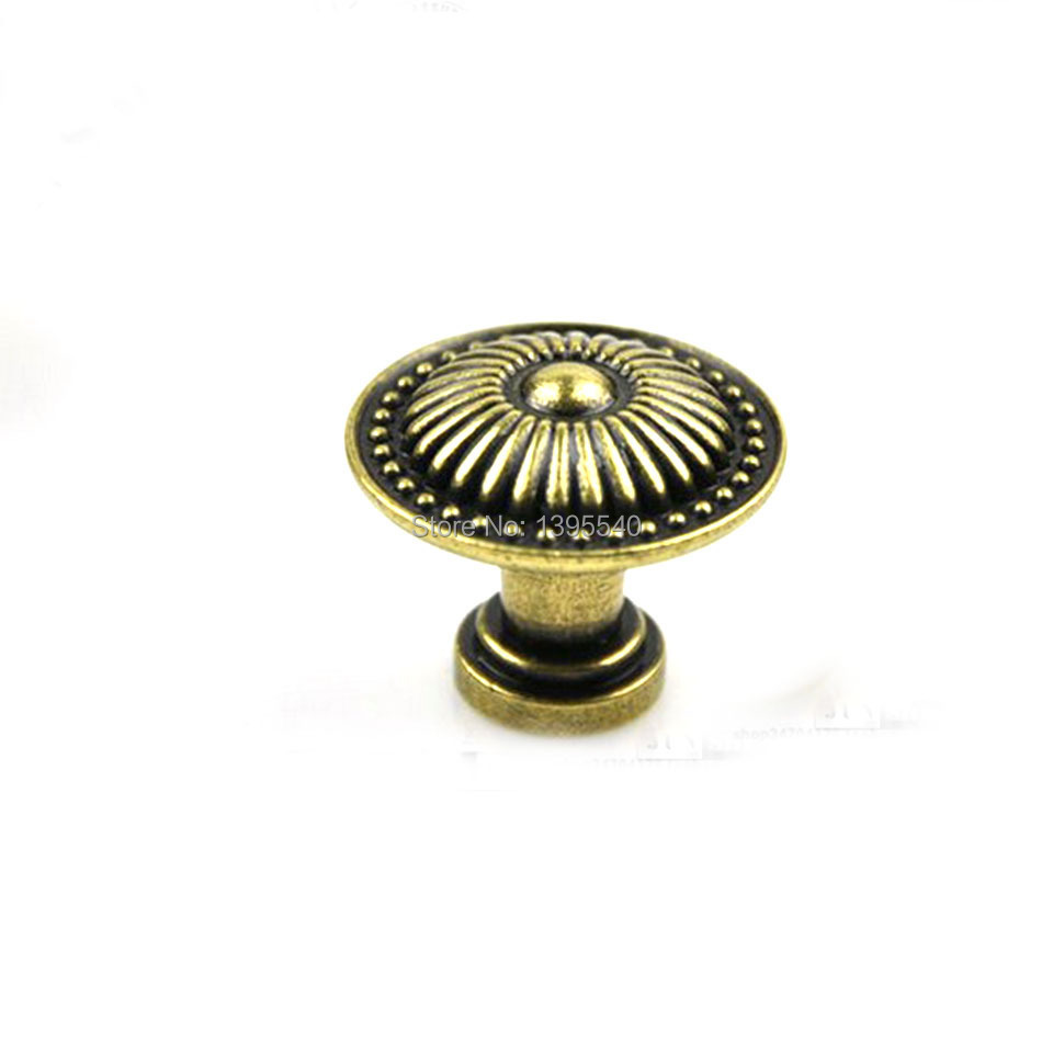 New 26mm Antique Cabinet Kitchen Drawer Bronze Knob Euro-Style Vintage Wardrobe Door Knobs Modern Kitchen Handles Bars Pulls(China (Mainland))