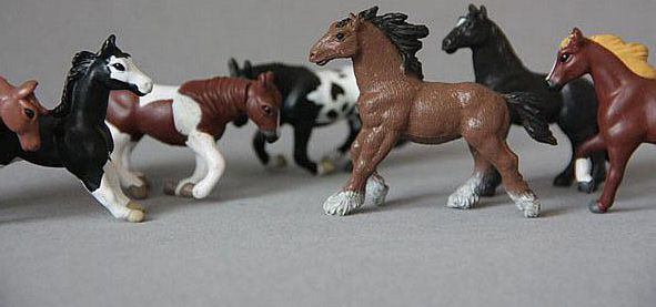 solid pvc figure artificial animal model doll horses 20pcs/ set child gift toy(China (Mainland))