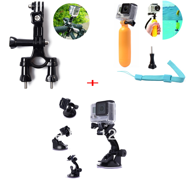 Xcsource 9in1 Accessories Set Floating Monopod + Seatpost Mount + Suction Cup + Screws for Gopro Hero 1 2 3 3+ Camera OS058-SZ(China (Mainland))