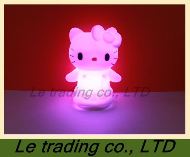 10 PCS Colorful kitty cat small night light B-004  free shipping