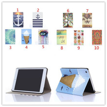 Colorful Mini Tablet Leather Case for apple ipad mini 3 Smart Cover Case +screen protectors(China (Mainland))