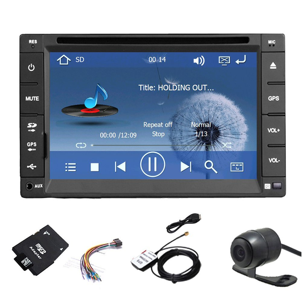HD Backup Camera 2015 New Model 6.2 Inch Double 2 Din LCD Touch Screen in Dash Car DVD Player Bluetooth and GPS+ Free GPS Map(China (Mainland))