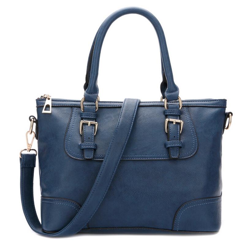 Womens Shoulder Bag 8 Colors Leather Handbag Simple Retro Briefcase High Capacity Casual Tote Women Fashion Messenger Bag<br><br>Aliexpress
