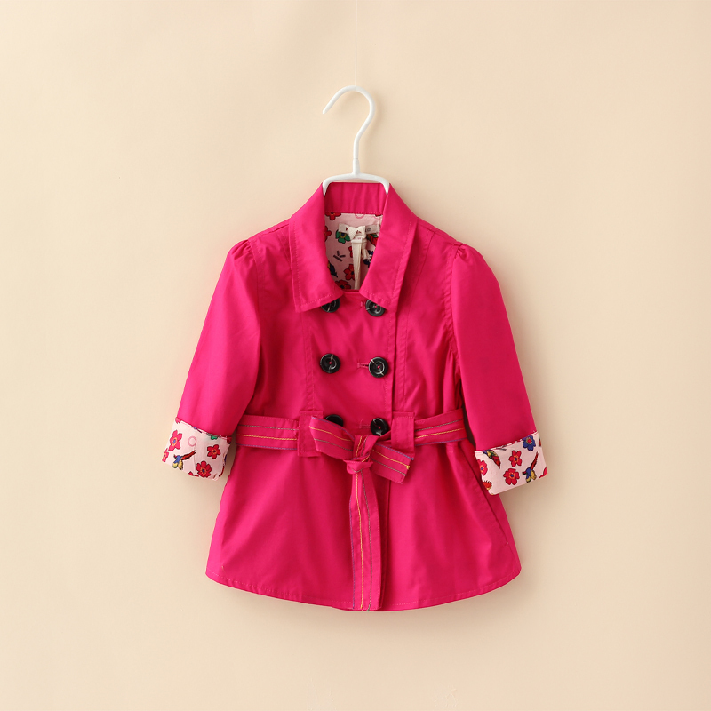 Children Casual Solid Outerwear Fashion Turn-Down Collar Outerwear Clothing Kids Trench Coat Children Clothing<br><br>Aliexpress