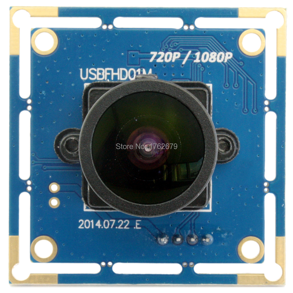 Linux Android Windows  2mp 1920 x 1080p 2 megapixel USB Industrial Webcam wide angle camera module with 170 degree fisheye lens