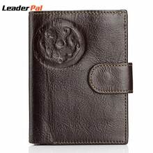Unique Design Real Genuine Leather Mens Passport Holder Wallets Man Cowhide Passport Cover Purse Brand Male Credit&Id Car Wallet(China (Mainland))
