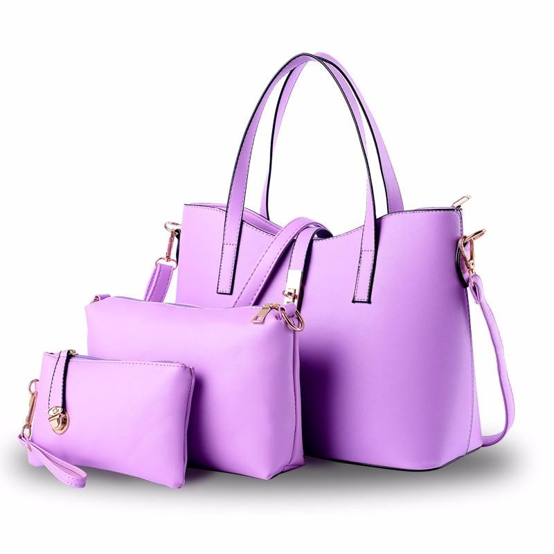 Designer Gorgeous Women Large Handbag Three Piece Suit Composite Bag Ladies Sweet Style Casual Shoulder Bag Simple Crossbody Bag