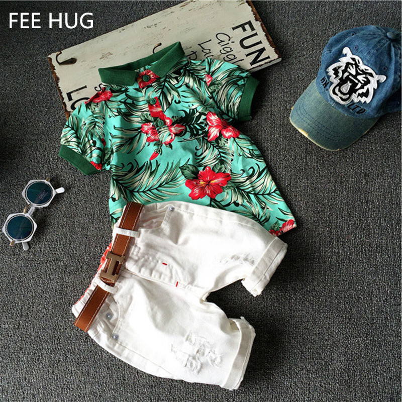 2016 Fashion Boys Clothing set Baby boys girls t shirts+shorts pants sports suit kids clothes summer wear 2T 3T 4T 5T 6T(China (Mainland))