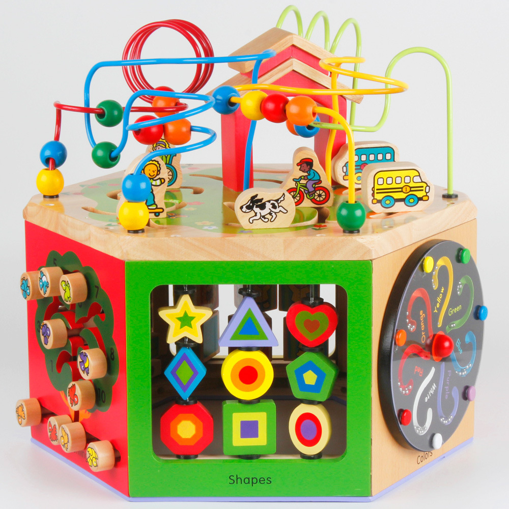 Toys For Toddlers One To Three Years : Educational wooden toy b zany zoo activity cube