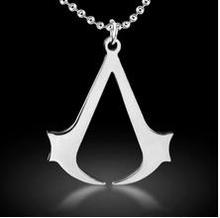 Hot sales !!! fashion Cospaly Jewelry Assassins Creed Necklace Stainless Steel Pendant Necklage Silver For Men B0151