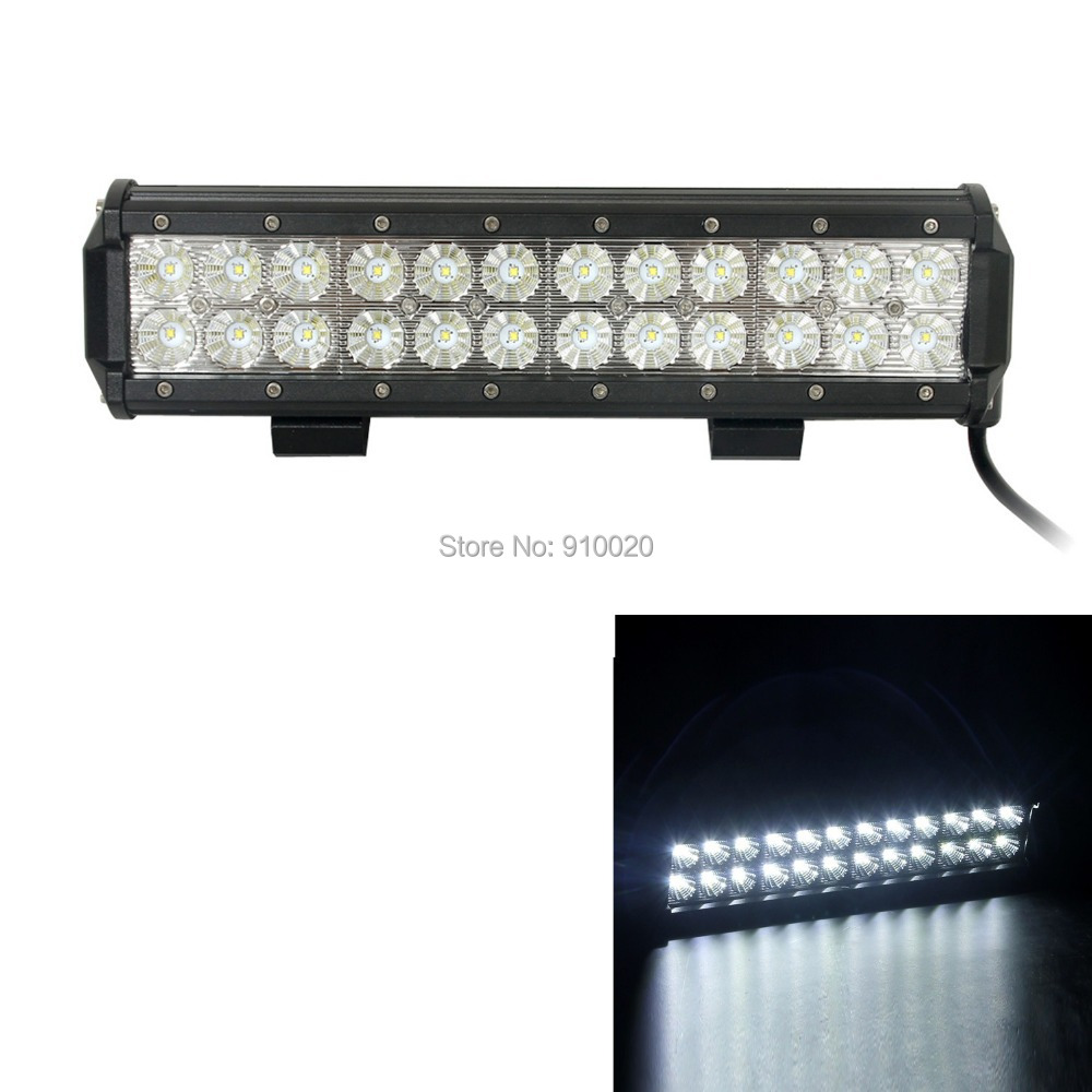 One Piece 72W 6000K Cree LED Double Rows Work Light Tractor Boat Off-Road 4WD 4x4 Truck SUV ATV Spot Bar Flood Beam - Shenzhen Epanel Technology Limited store