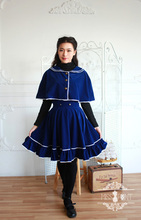 Mdash . vintage preppy style cloak outerwear bust skirt autumn and winter clothing