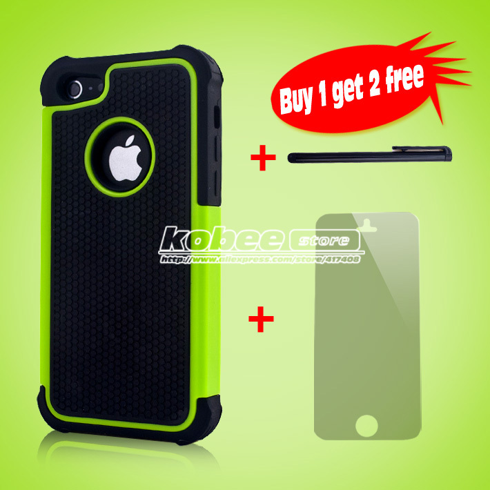 Drop Resistance 5C Hybrid Soft Silicon Back Skin Case Cover for Apple iphone 5C 5 C 5S For i phone 5C 5S 6 Touch pen+Screen Gift(China (Mainland))