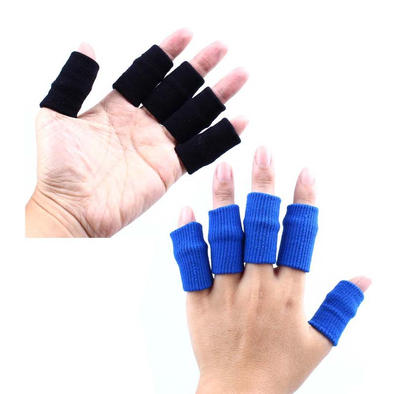 10x Basketball Extended Finger Support Weak Finger Elbow Protector Finger Guard For Ball Games 2 Colors Free Shipping Wholesale(China (Mainland))